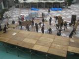 水上ステージの解体作業4