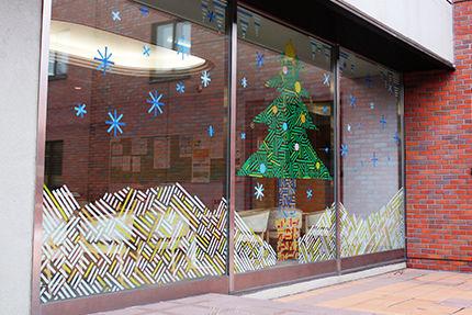 2014クリスマスロビー中庭側