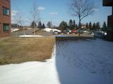 珍しい光景・・・日陰は雪解けしないんですね