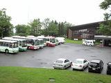 全道各地から色とりどりのバスがズラリ勢揃い