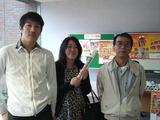 卒業生来校19期松井建太さん佐藤千春さんと秦先生