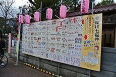 新田神社 七福神コンテスト 掲示板