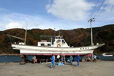 漁船 津波 清掃
