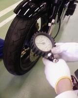バイク空気圧
