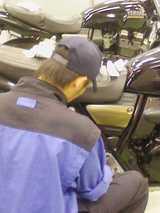 バイク磨き