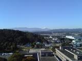 教員室から見る富士山