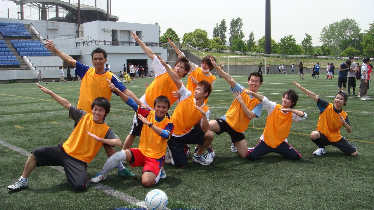 (体育祭)サッカー勝利のポーズ