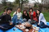 北海道留学生ウエルカムパーティーお花見写真