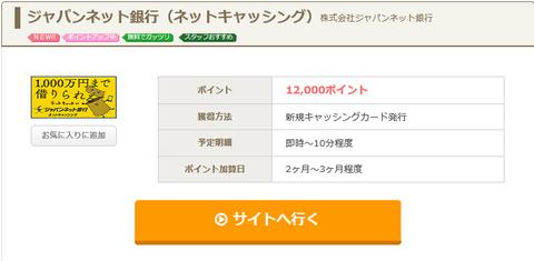 ジャパンネット銀行 ネットキャッシング2