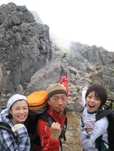 焼岳登山11頂上へアタック1