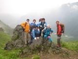 焼岳登山9朝の展望台