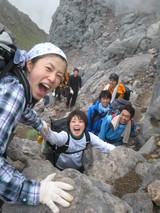 焼岳登山12頂上アタック2