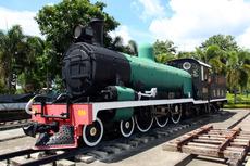 カンチャナブリ駅 機関車