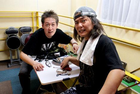 佐分利さんとスタジオ