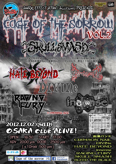 CAGE OF THE SORROW VOL 2 flyer