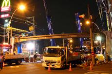 豊里西歩道橋撤去