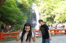 箕面の滝with破壊王
