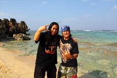 古宇利島 with スミス氏