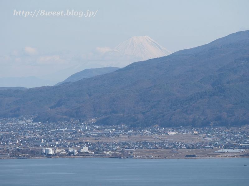 諏訪湖と富士山1