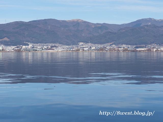 諏訪湖と高ボッチ