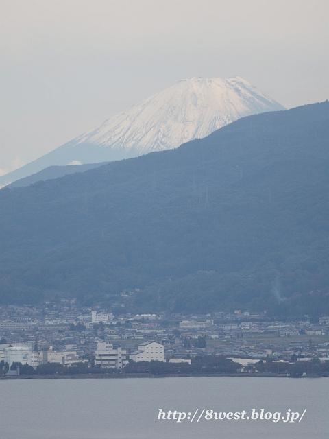 諏訪湖と富士山