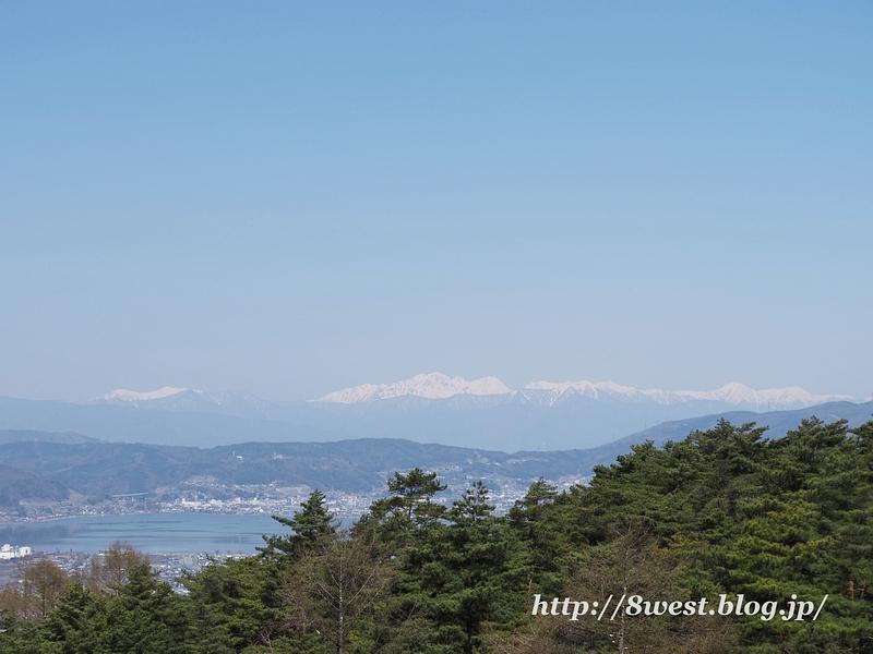 諏訪湖と北ア