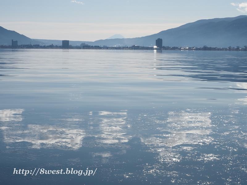 諏訪湖と富士山4
