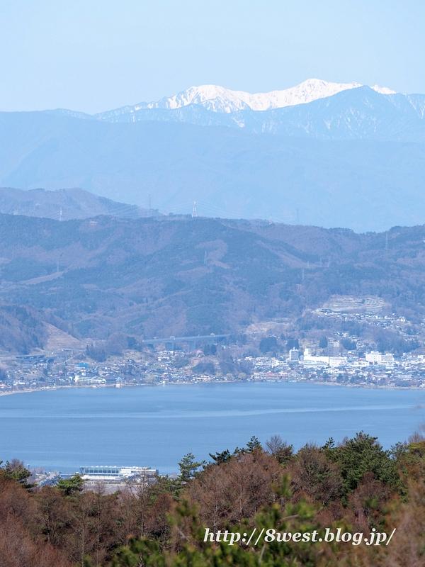 諏訪湖と霞沢岳