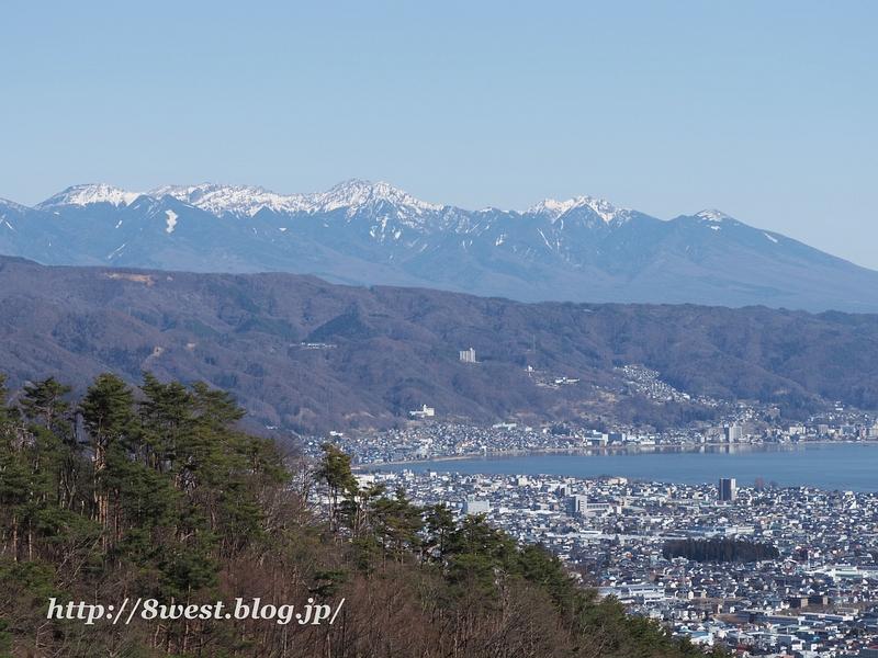 諏訪湖と南八ヶ岳