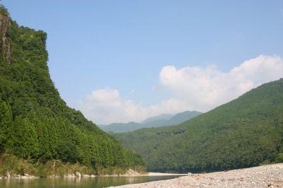 家族で熊野川 155