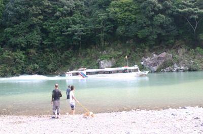 家族で熊野川 058