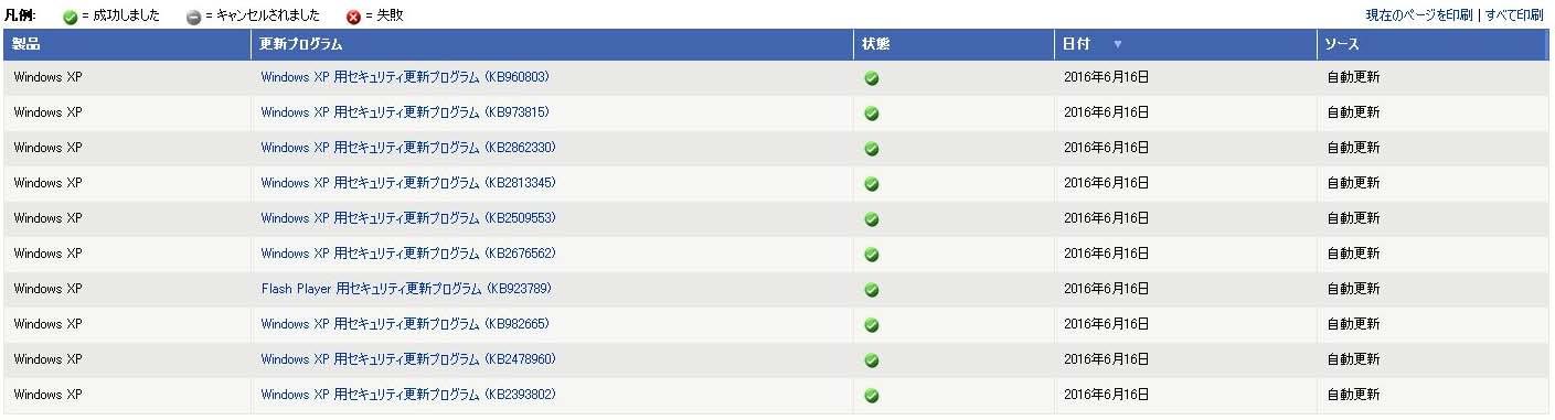 WindowsXP 更新14
