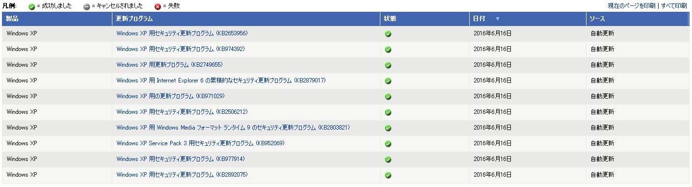 WindowsXP 更新12