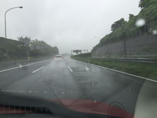 雨の日本坂