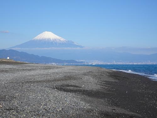 04三保海岸と富士山
