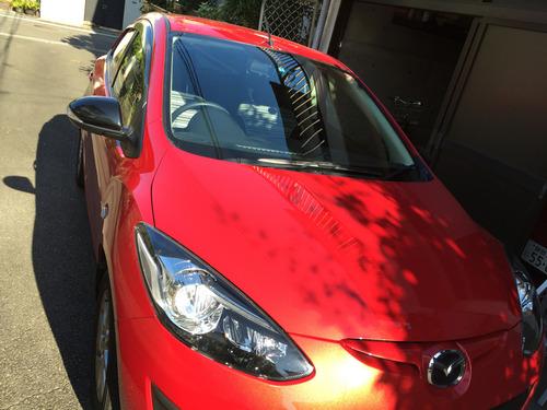 01洗車前デミオ