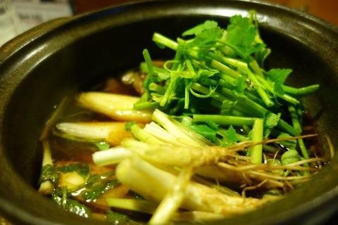 仙台のリアル深夜食堂「阿古」で鴨せり鍋とカレー雑炊を食べた