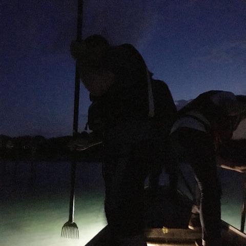 浜名湖「たきや漁」獲れたての魚の天ぷらと蟹の味噌汁