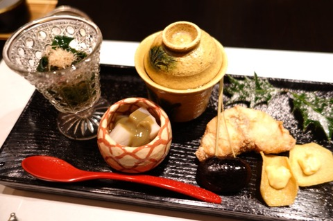 東銀座「よし澤」でサワラの藁焼きランチ