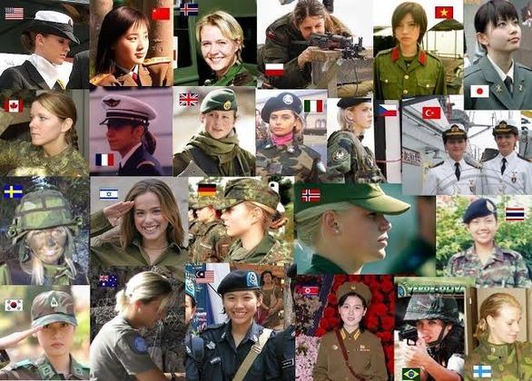 【画像】世界各国の女軍人さん、ガチでヤバイ