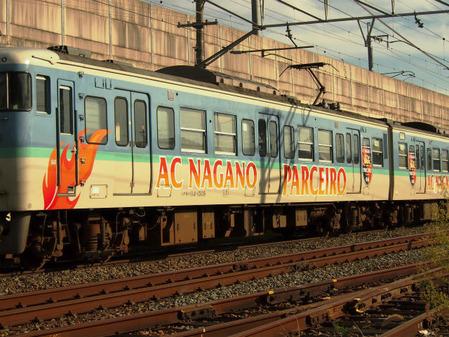 AC長野パルセイロラッピング電車