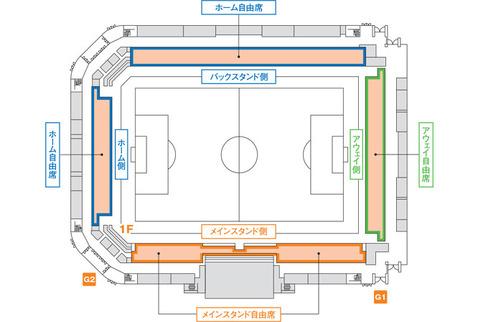 南長野スタジアム図