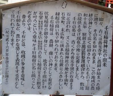 千石稲荷神社の由来