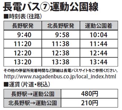 東和田までのバス