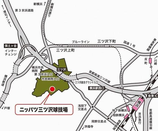 横浜駅~三ツ沢グランド入り口