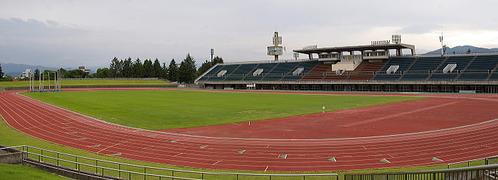 長野市営総合運動公園陸上競技場全景