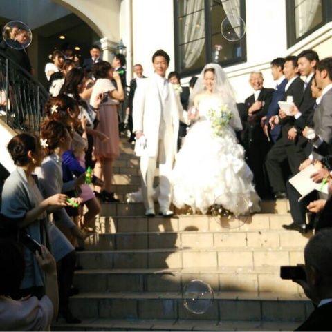 鯨岡選手結婚式