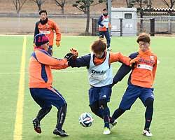 AC長野パルセイロ初の実戦練習