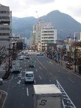 昭和通りを見下ろす