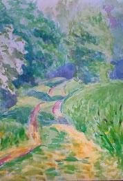 水彩画家・長尾周二・ロワール地方からプロバンスに向かう途中の作品